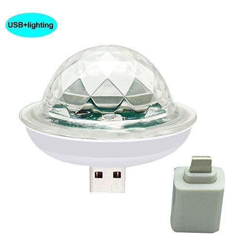 Meaningful Mini-USB-Disco-Licht, USB Powered Sound Aktiviert Mini Multicolor LED Disco Licht Magische Kugel Tragbare Home Party Licht Bühneneffekt-Birne