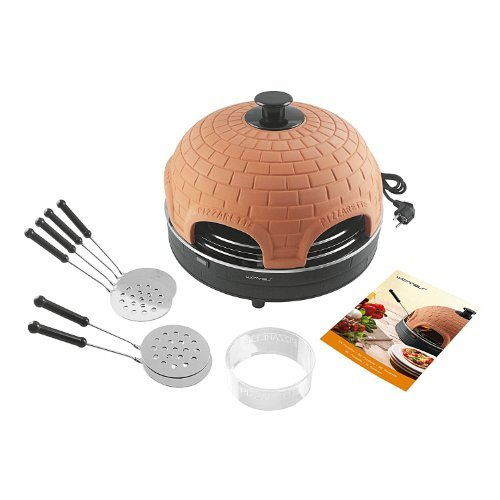 Terracotta pizza oven mini pizzas party pizzadome pizzamaker Waves PO 102929