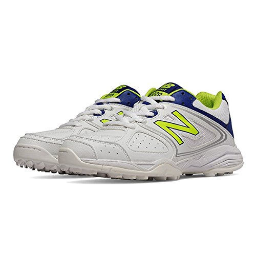 New Balance , Chaussures de cricket pour homme multicolore blanc/bleu blanc/bleu
