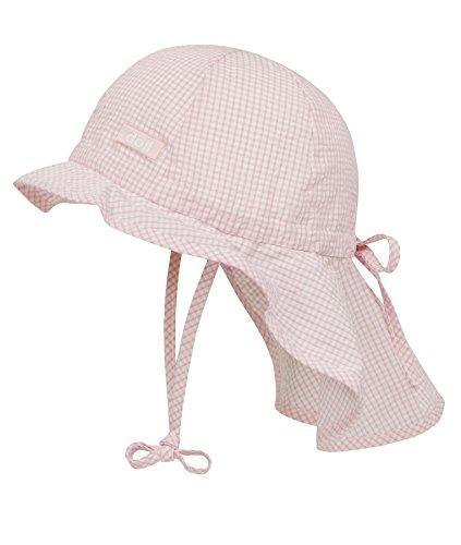 Mädchen-sonnenhut (Döll Unisex - Baby Schirmmütze Sonnenhut mit Nackenschutz 000076941, Kariert, Gr.55, Rosa (sweet lilac 2010))