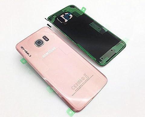 Original Samsung Galaxy S7 Edge G935F G935 Akku Deckel Akkufachdeckel Akkudeckel Rückseite Back Cover Kameralinse + Klebestreifen Rosa Pink Gold