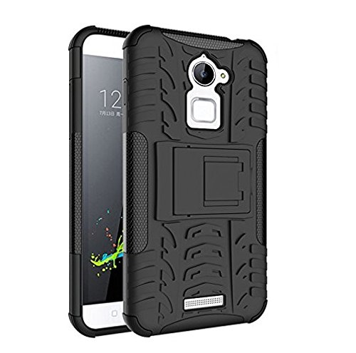 ImagineDesign™ Defender Tough Hybrid Armour Shockproof Hard PC+ TPU with Kick Stand Rugged Back Case Cover for COOLPAD NOTE 3 LITE (5.0 inch) - Black