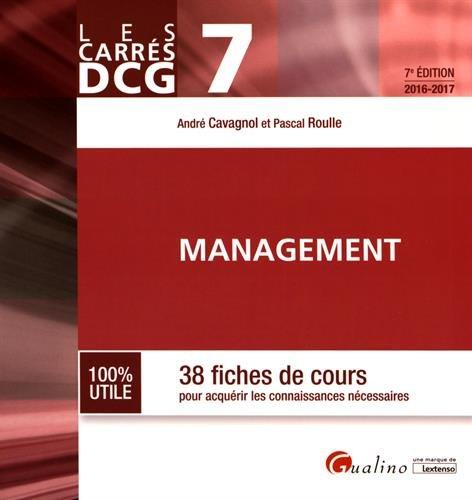 DCG 7 Management : 38 fiches de cours pour acqurir les connaissances ncessaires