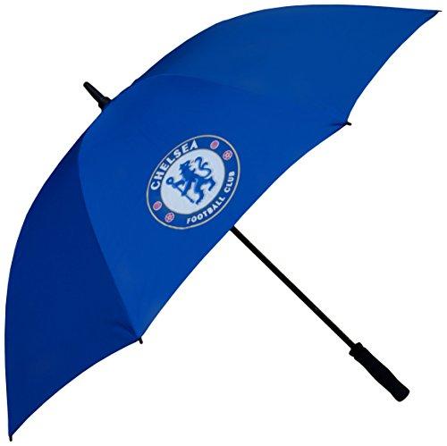 Chelsea FC Offizielle Lizenzprodukt Single Canopy Golf Regenschirm–Blau
