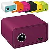 MySafe Tresor Design Safe 230 x 430 x 350 mm (HxBxT) Fingerabdruck Schloss verschiedene Farben grün, lila, pink, blau /, Lila
