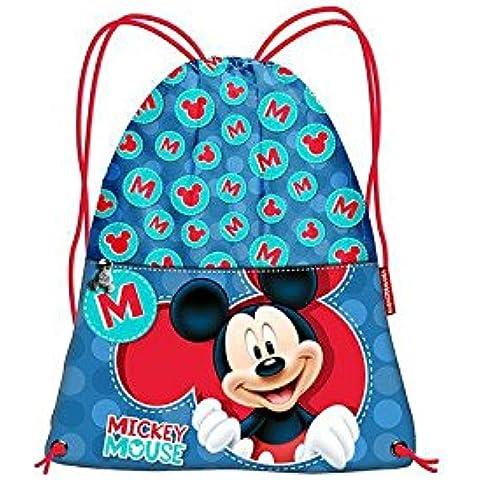 Sacca portatutto Topolino Disney 26x35 cm *08246 cartoni