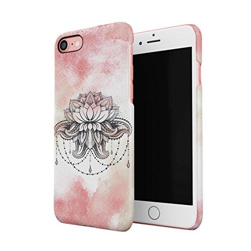 Pink Lotus Blossom (Henna Pink Watercolor Lotus Blossom Dünne Rückschale aus Hartplastik für iPhone 7 & iPhone 8 Handy Hülle Schutzhülle Slim Fit Case cover)