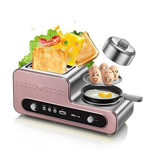 Toaster-Multifunktions-Frühstück Maschine Spieß Treiber Backen Dampfgaren sechs-Geschwindigkeit Backmaschine Elektrische Küchengeräte (Color : Pink, Size : 48 * 18.5 * 19.5cm)