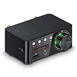 Mini Bluetooth 5.0 Verstärker USB Musik Player Stereo Home / Car Audio Amplifier (Black)