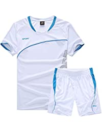 d8456d57ff4f6 LQZQSP Chándales De Fútbol para Adultos Conjunto Uniformes Ropa De Fútbol  Chándal De Fútbol Transpirable Camiseta