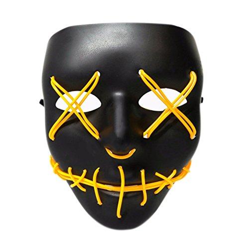 lzn Leuchten Sie Purge Maske genäht El Draht LED Halloween Rave Cosplay Requisiten liefert