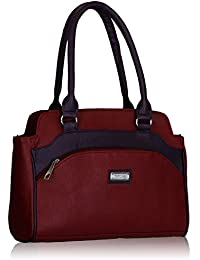 Fantosy Women's Maroon And Purple Handbag And Wallet Fnb-325_079