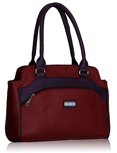 Fantosy Women's Maroon And Purple Handbag And Wallet Fnb-325_079