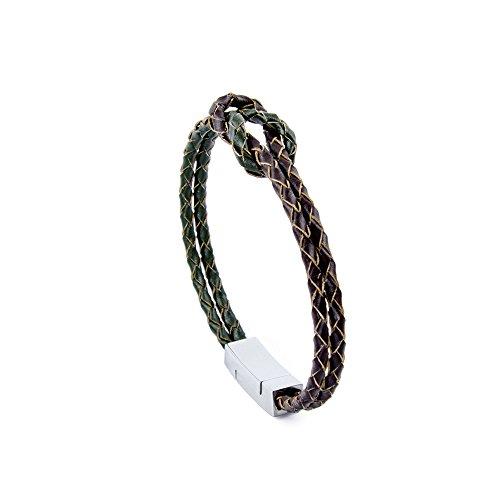 d311e52315e (18.0 Centimetres) - Willy s Into Infinity Circle Bangle Bracelet for Men  Women Elegant Genuine