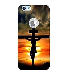 Fiobs Designer Phone Back Case Cover Apple iPhone 6 (Logo View Window Case) ( Jesus Cross )