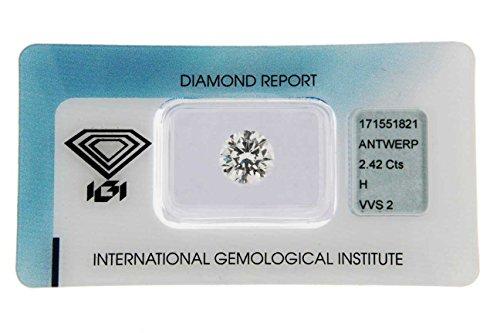 Diamante Certificato IGI CT 2,42 H VVS 2