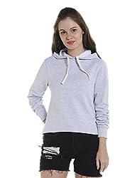Campus Sutra Womens Plain Sweatshirt (AZW17_HCR_W_PLN_GR_AZ_L)
