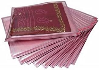 Ridhi & Sidhi Pink Singal Saree/Suit Cover Pack of 10.
