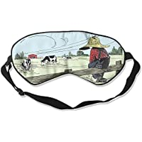 Sleep Eye Mask Farm Boy Cow Lightweight Soft Blindfold Adjustable Head Strap Eyeshade Travel Eyepatch preisvergleich bei billige-tabletten.eu