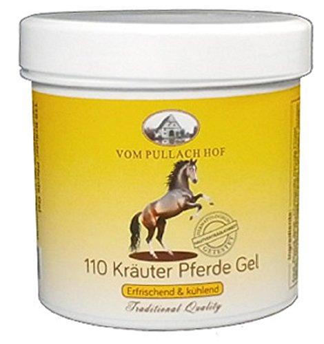 4x 110 Kräuter Pferde Gel 250ml Hautpflege von Pullach Hof