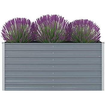 Metall Hochbeet Verzinkter Gemüsebeet Pflanzbeet Garten  Balkon mehrere Auswahl