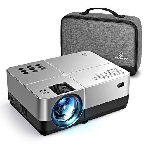 VANKYO Leisure 420 Mini Beamer, 3000 Lux LCD Beamer mit tragbarer Tasche, unterstützt 1080P Full HD, Heimkino-Projektor Kompatibel mit HDMI /VGA/USB/ AV/SD, Silber