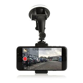 Wolffilms Dashcam Holder Halterung Autohalterung Mount KFZ-Zubehör für Apple Samsung Galaxy Huawei LG Sony Nokia UVM.