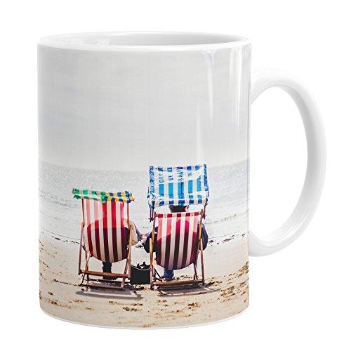 Seaside Ceramic (Chad Powell Fotografie die Life Sommer Liegestuhl Tasse mit Fotoaufdruck)