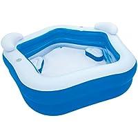 Piscina autoportante Hinchable de PVC Azul para Jardín Infantil de 213x69 cm. - LOLAhome
