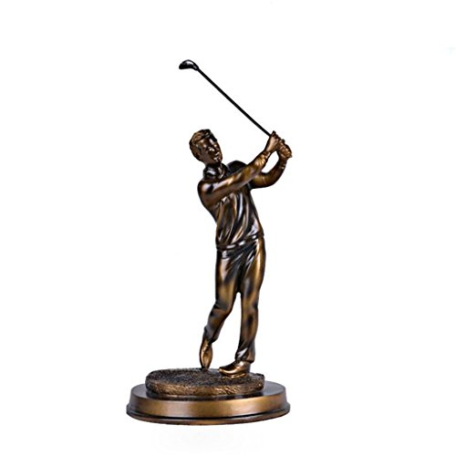 Betty Statue Golfeur élégant Sport Sculpture Artisanat décoration rétro Salon Bureau décoration...
