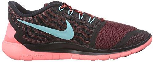 Nike Wmns Free 5.0 - Scarpe Sportive Donna Nero (Schwarz (Black/Light Aqua-Rio-Hot Lava 004))