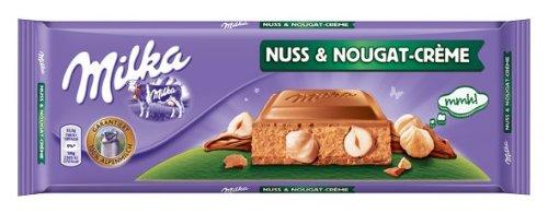 Milka Nuss-Nougat-Creme, Tafelschokolade, 300g, 2er Pack (2 x 300 g)