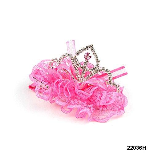 Junggesellinnen Kostüm Der (Große Prinzessinnen Krokodilspange mit Krone aus Glitzer)