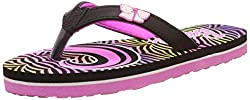 Barbie Girls Black and Pink Flip-Flops and House Slippers - 6 kids UK/India (23 EU)