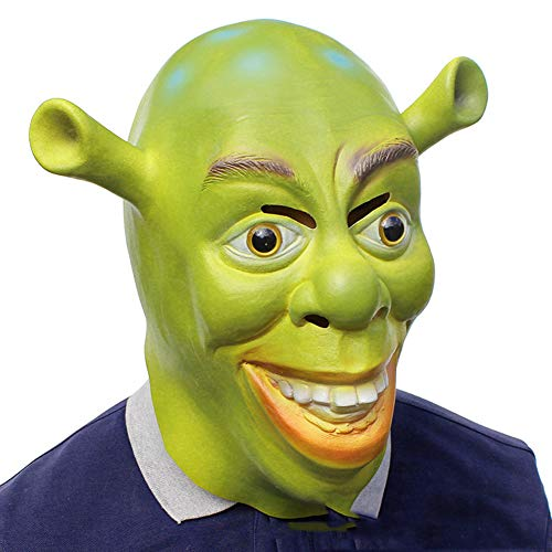 GUOJIUXIAO Halloween Latex Maske, Horror Shrek Maske Maskerade Kopfbedeckung Christmas Ball Bar Party Requisiten (Shrek Kostüm Accessoires)