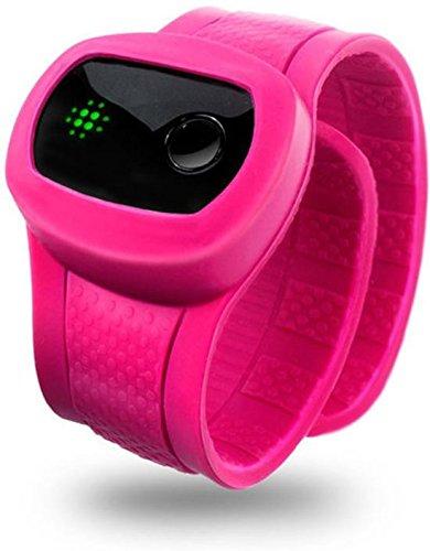 X-Doria KidFit Bluetooth Wireless Fitnesstracker / Schlaftracker / Aktivitäts-Armband im Slap Band Design Kompatibel mit iOS/Android Geräten einschlieߟlich Samsung Galaxy S5/S6/S6 Edge/S6 Edge+ und iPhone 5/5S/5C/6/6 Plus/6S/6S Plus - Pink