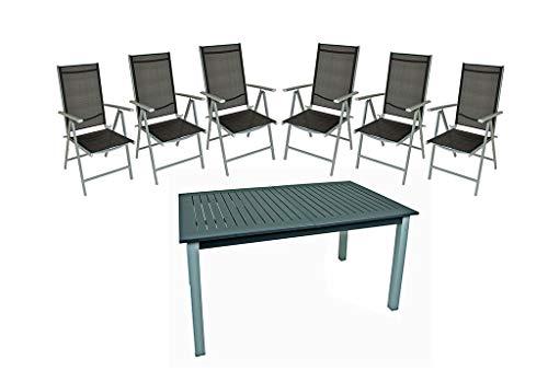Gravidus 7-teilige Sitzgruppe mit Ausziehtisch
