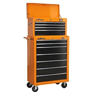 DJM 6 Drawer Top Box Chest & 7 Drawer Roller Cabinet Roll Cab Tool Box by DJM Direct