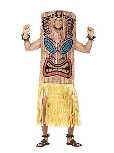 SMIFFYS Costume Tiki Totem, marrone, con tabarro, gonna attaccata, polsini e cavigliere
