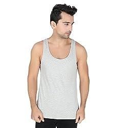 Undercolors Mens Cotton Vest (LM71I_X-Large_Grey)