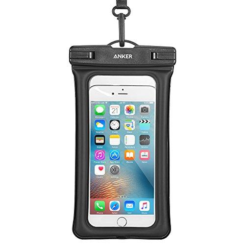 Anker Wasserdichte Handyhülle Wasserfeste Hülle, IPX8 Zertifizierte Wasserdichte Dry Bag, Tasche für iPhone XR/XS/X/ 8/7/6/6s/6splus/Galaxy S9/S8/S7, Huawei P10 usw bis zu 6 Zoll