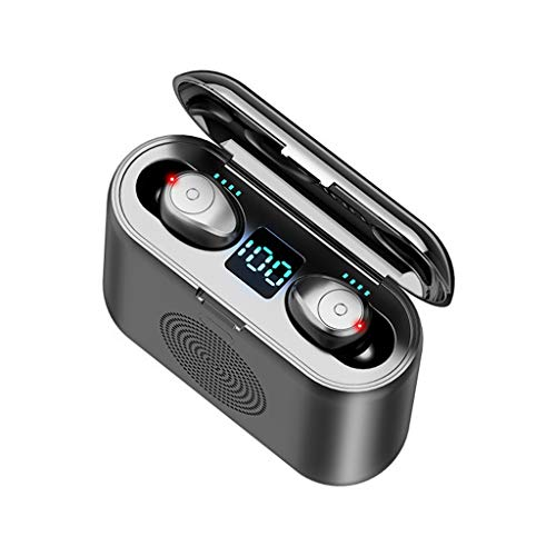 Bluetooth Kopfhörer im Ohr Drahtlose Kopfhörer mit Bluetooth Lautsprecher, LED Digitalanzeige, 9D Surround Sound, 150H Spielzeit Sport Headset Kompatibel mit Samsung/Xiaomi/iPhone/Sony/Android