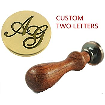 Letter H YPSelected Vintage Calligraphic A-Z 26 Alphabet Initial Letters Sealing Wax Spoons Candles Seal Stamp