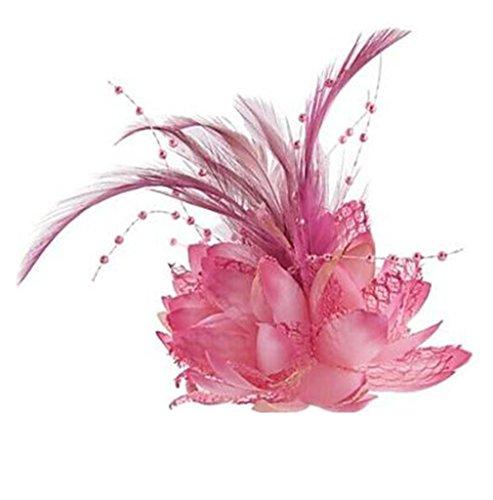 HFJ&YIE&H Feather Flower Fascinators für Hochzeit / Party Headpiece . blushing pink