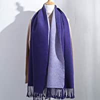 CXIGUA Schals Von Frauen Winter Doppelseitige Reine Farbe Schals Studenten Dicker Wärmekragen