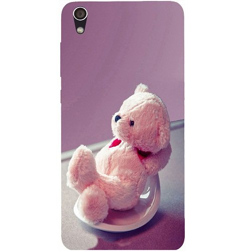 Casotec Cute Teddy Bear Design Hard Back Case Cover for Lenovo S850  available at amazon for Rs.199