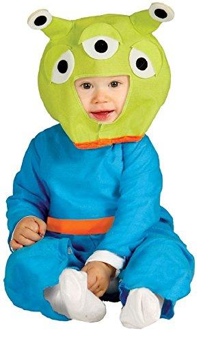 Baby Mädchen Junge Blau Alien Monster Halloween Kostüm Outfit Verkleidung 6-12 12-24 Monate - Blau, Blau, 6-12 Months