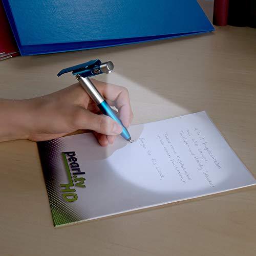 BigBigShop 5 Stück Kugelschreiber mit Beleuchtung, Kugelschreiber mit Licht, 4-in-1 Kugelschreiber mit LED-Lampe, Touchpen und Handy-Ständer (Zufällige Farbe)