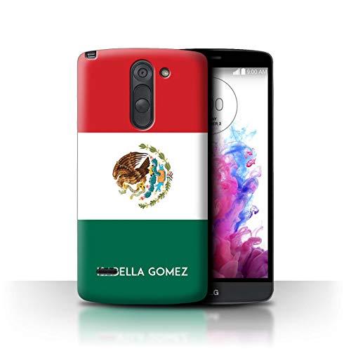 eSwish Personalisiert Individuell National Nation Flagge 3 Hülle für LG G3 Stylus/D690 / Mexiko/Mexikanisch Design/Initiale/Name/Text Schutzhülle/Case/Etui (Lg G3 Cover Stylus-telefon)
