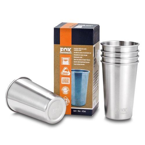 Fox, Taza de acero inoxidable (Pack 5 piezas), 473 ml 9871-X -